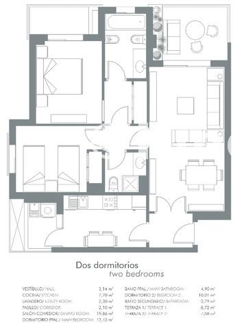 Large plano 2 dormitorios