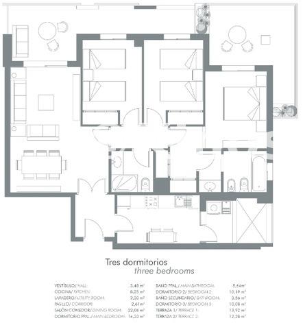 Large plano 3 dormitorios