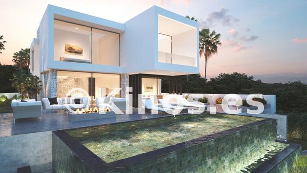 Large modern villas for sale mijas mediterranean hills 1