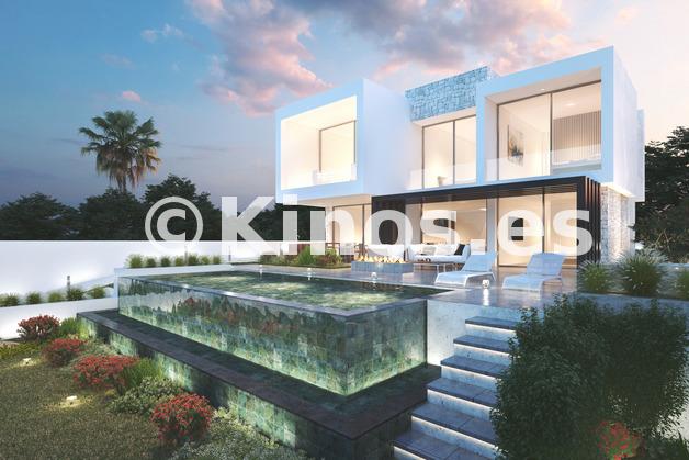 Large modern villas for sale mijas mediterranean hills 3