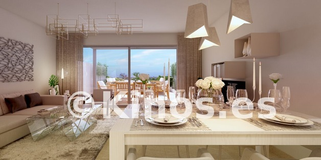Large b1 green golf townhouses estepona salon preview