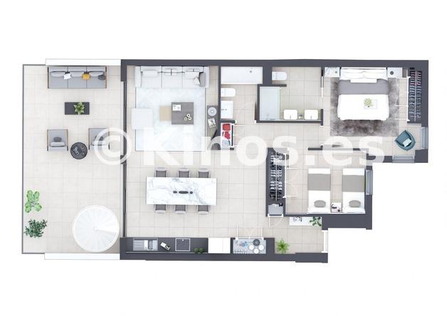 Large manilva 2 plano 2 dormitorios 1980x1399
